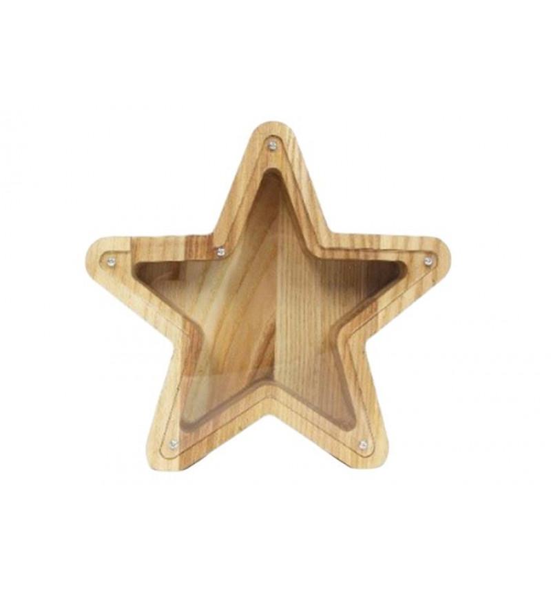 """Medinė taupyklė """"Žvaigždė"""""""