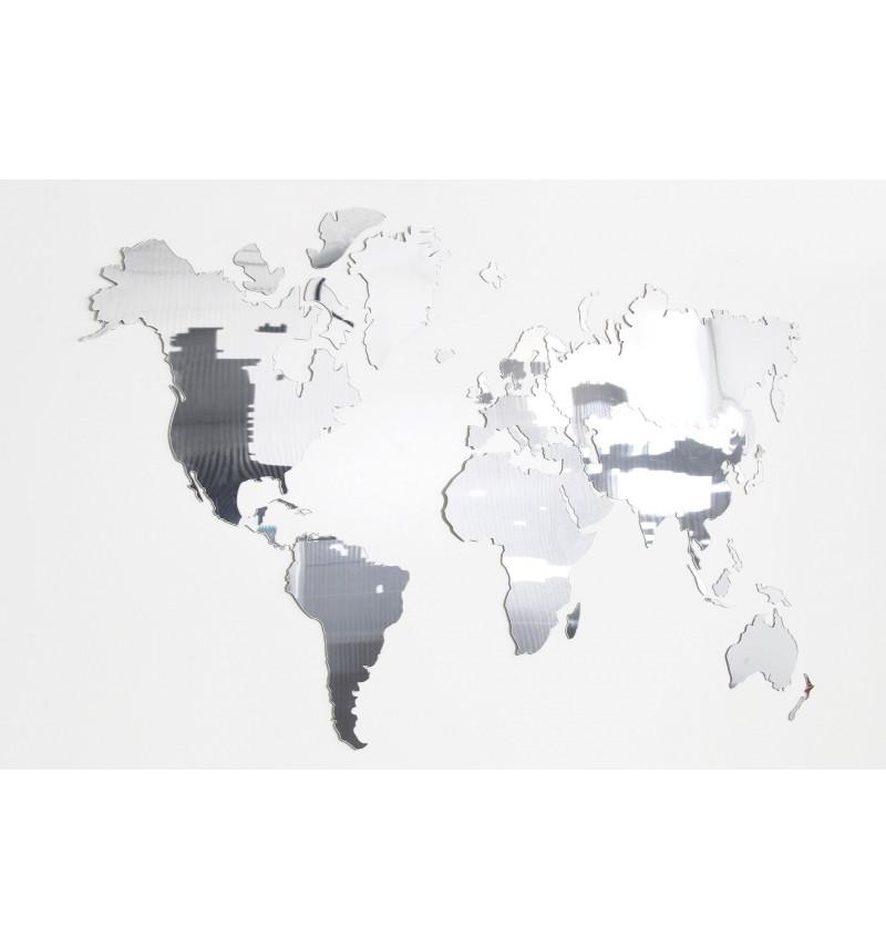 Akrilo stiklo pasaulio žemėlapis