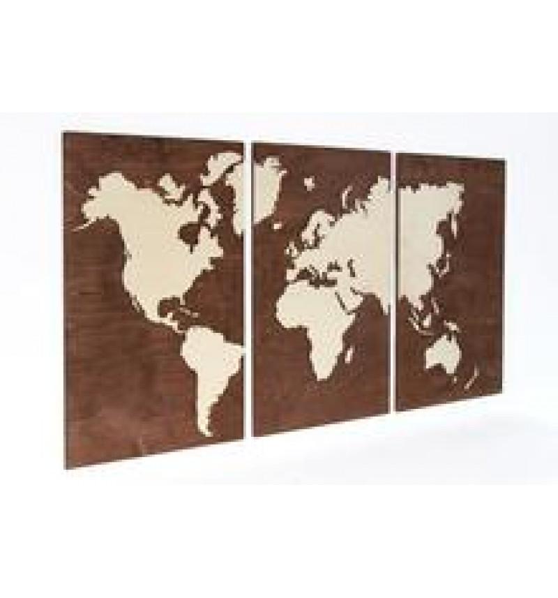 Trijų dalių pasaulio žemėlapis