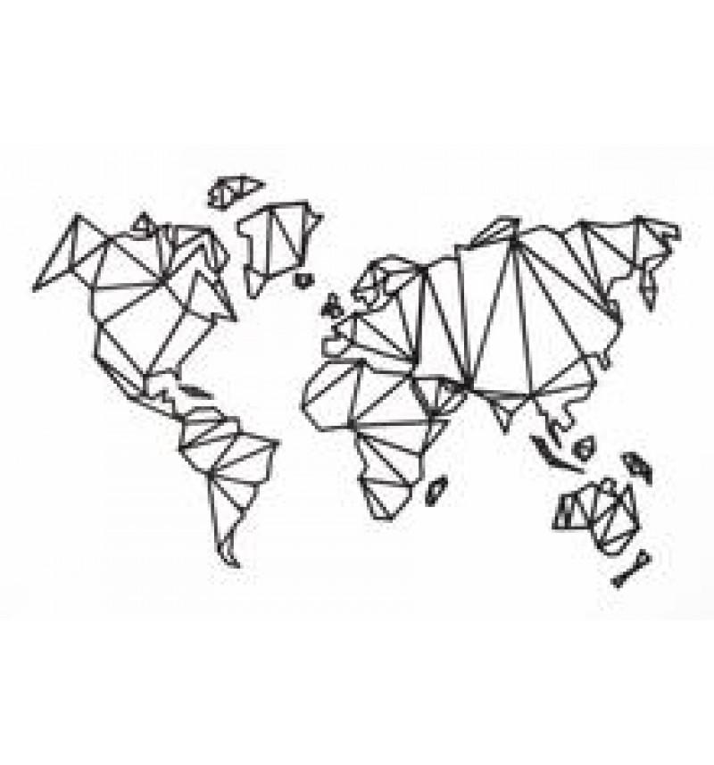 Origami pasaulio žemėlapis