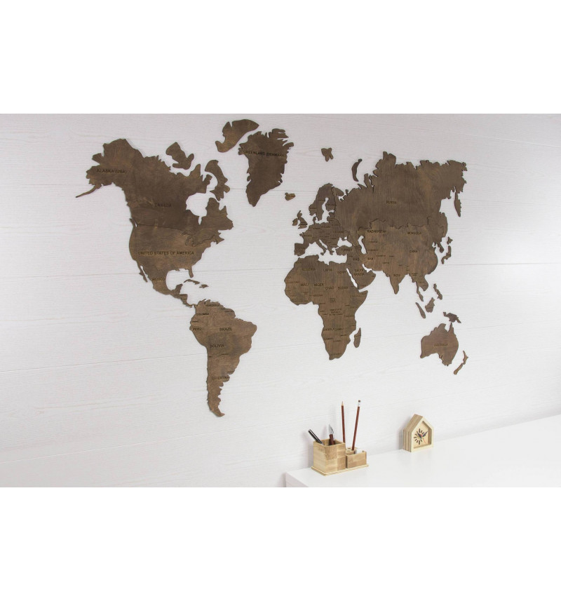 Rudos spalvos pasaulio žemėlapis