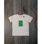 Balti marškinėliai trumpomis rankovėmis
