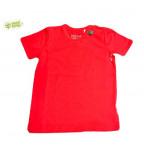 Raudoni marškinėliai trumpomis rankovėmis