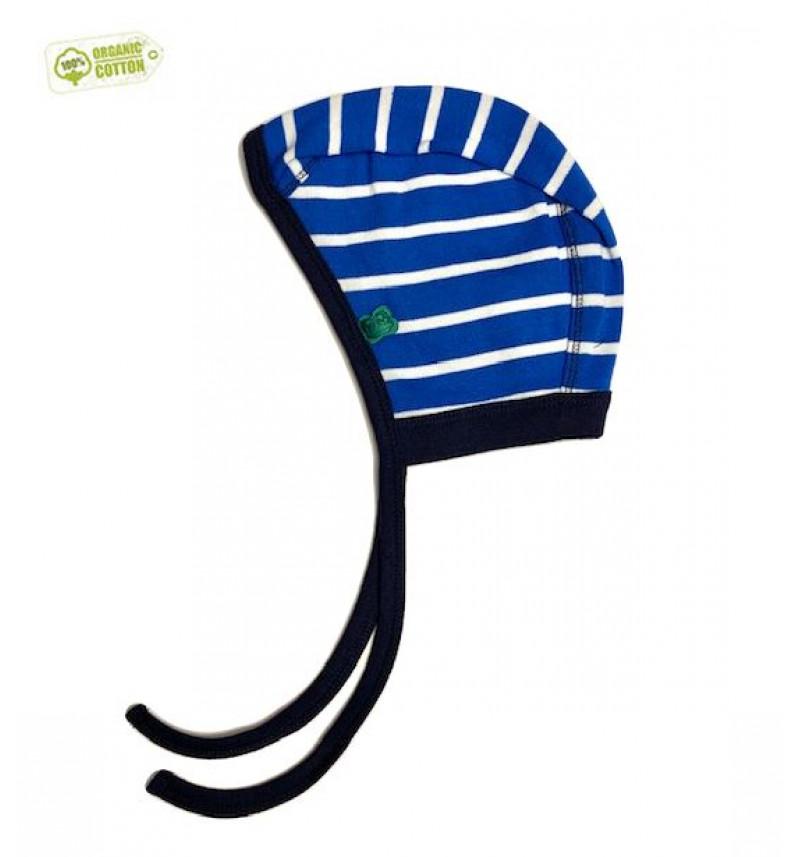 """Mėlyna kepurė su raišteliais 'Fredas"""""""