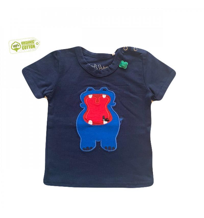 """Mėlyni marškinėliai """"Begemotas"""""""