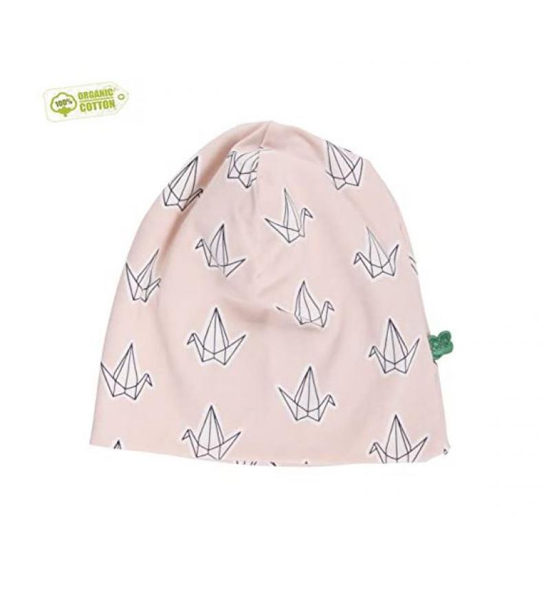 """Rožinė kepurė """"Origami"""""""