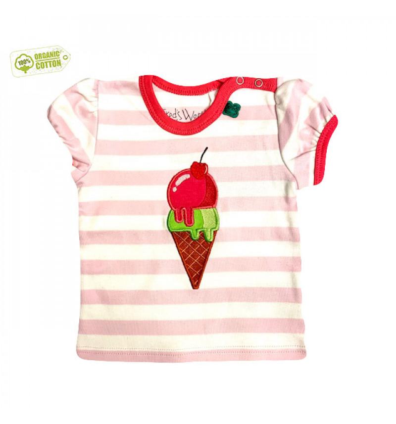 """Rožiniai marškinėliai """"Ledai"""""""