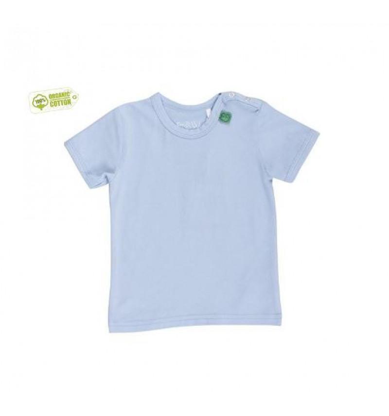Žydri marškinėliai trumpomis rankovėmis