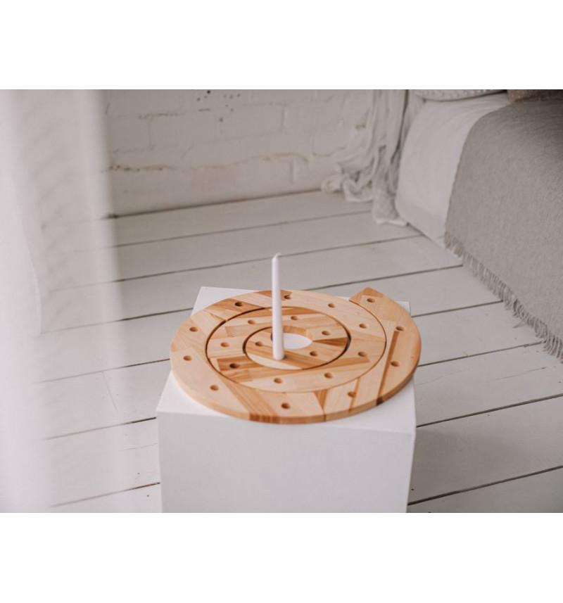 Medinė žvakidė - stovas