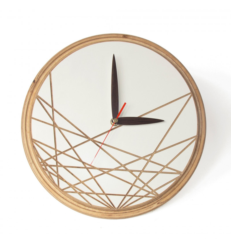 """Apvalus medinis sieninis laikrodis """"Rodyklė"""""""