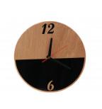 MDF plokštės bei akrilinio stiklo sieninis laikrodis