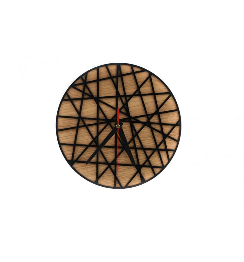 """MDF plokštės bei akrilinio stiklo sieninis laikrodis """"Laikas"""""""