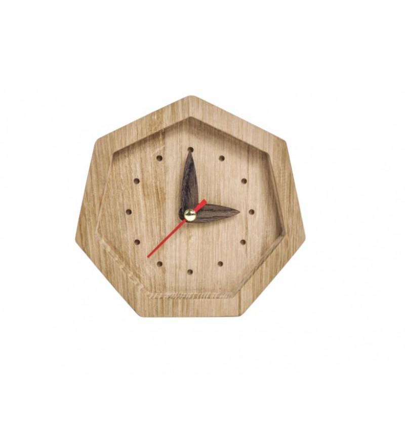 """Septinkampės formos medinis sieninis laikrodis """"Promi"""""""