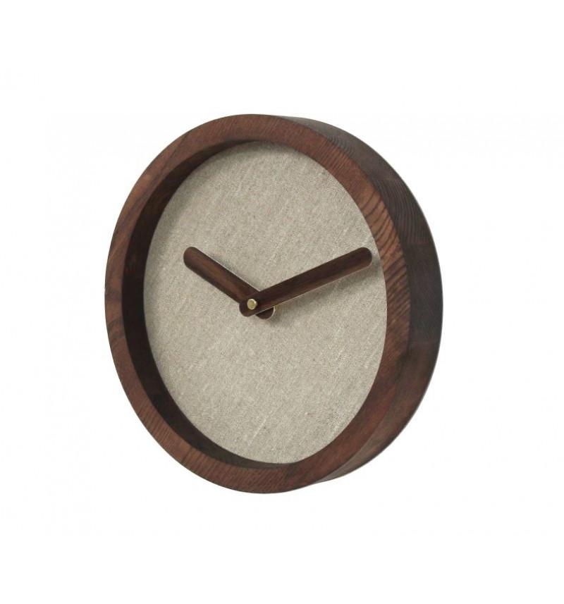 """Tamsus apvalus sieninis laikrodis """"Laike"""""""