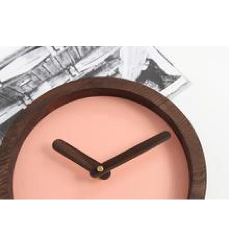 """Apvalios formos tamsus medinis sieninis laikrodis """"Laikas"""""""