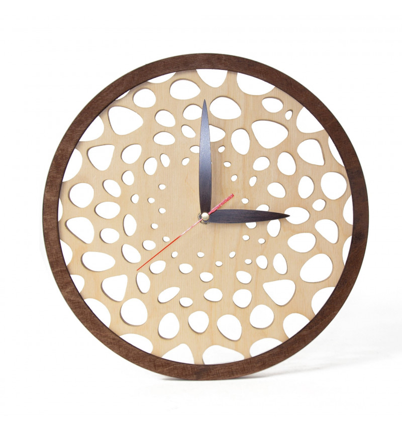 """Apvalus medinis sieninis laikrodis """"Medis"""""""