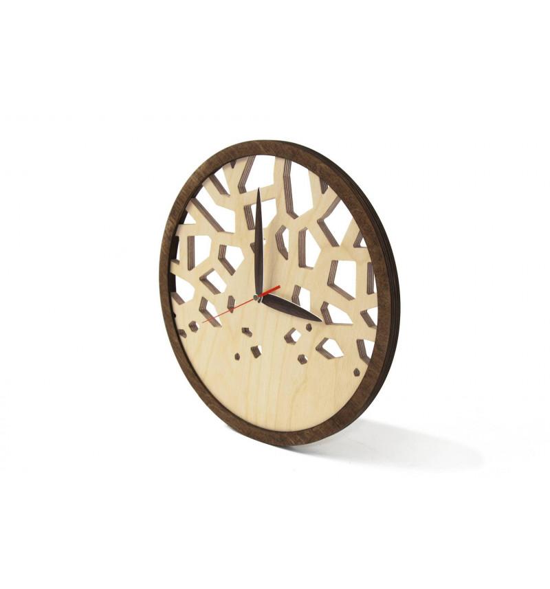 """Apvalus medinis sieninis laikrodis """"Vitražas"""""""