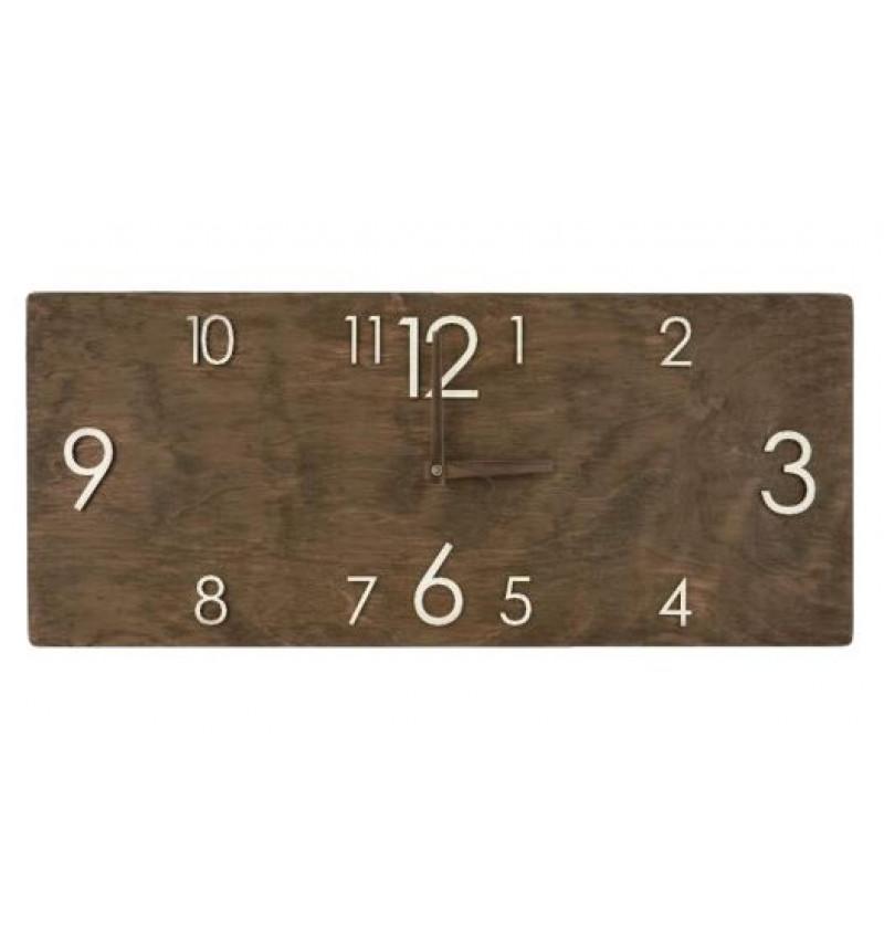 Didelis medinis sieninis laikrodis