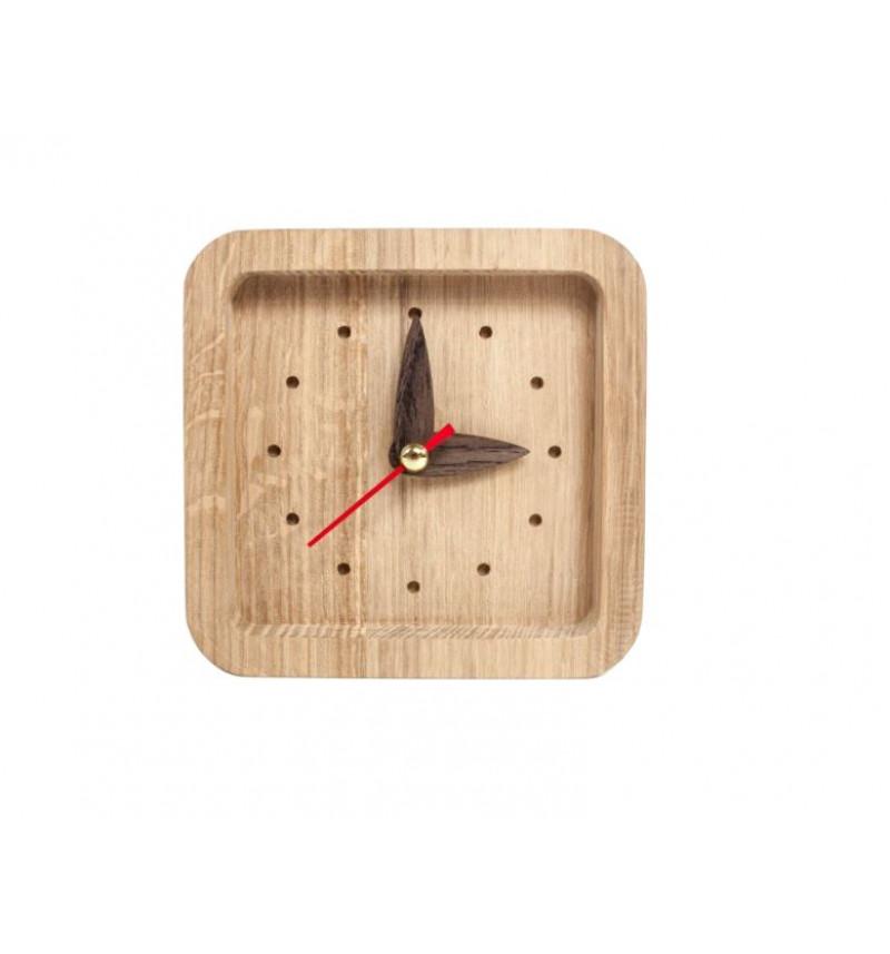 """Kvadrato formos medinis sieninis laikrodis """"Promi"""""""