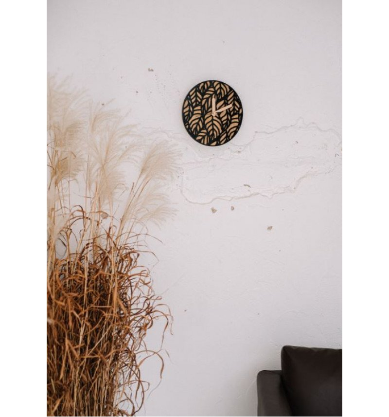 """Medinis sieninis laikrodis su akrilo stiklu """"Laikas"""""""