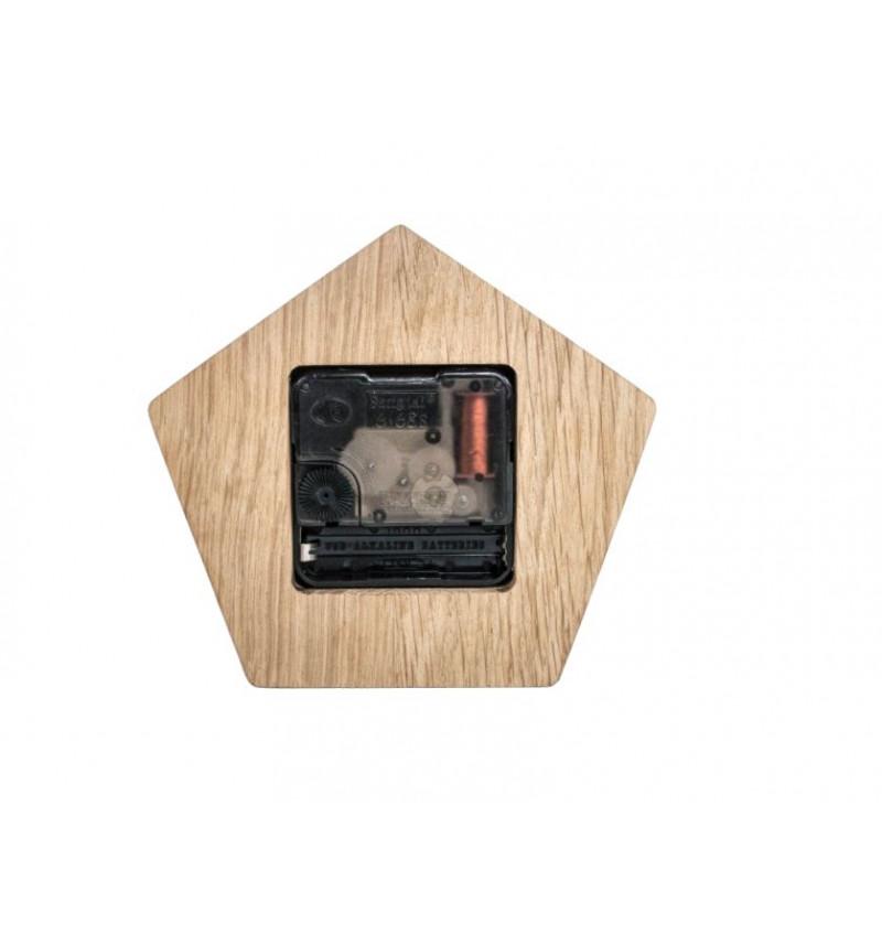 Penkiakampės formos medinis sieninis laikrodis