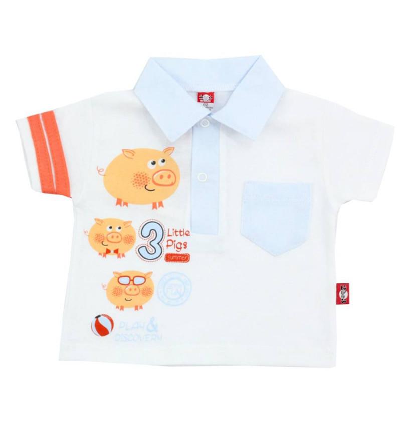 """Balti marškinėliai """"3 paršiukai"""""""