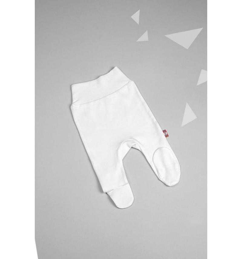 Baltos kelnės su pėdutėmis