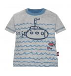 """Bangelėmis puošti pilki marškinėliai trumpomis rankovėmis """"Paplūdimys"""""""
