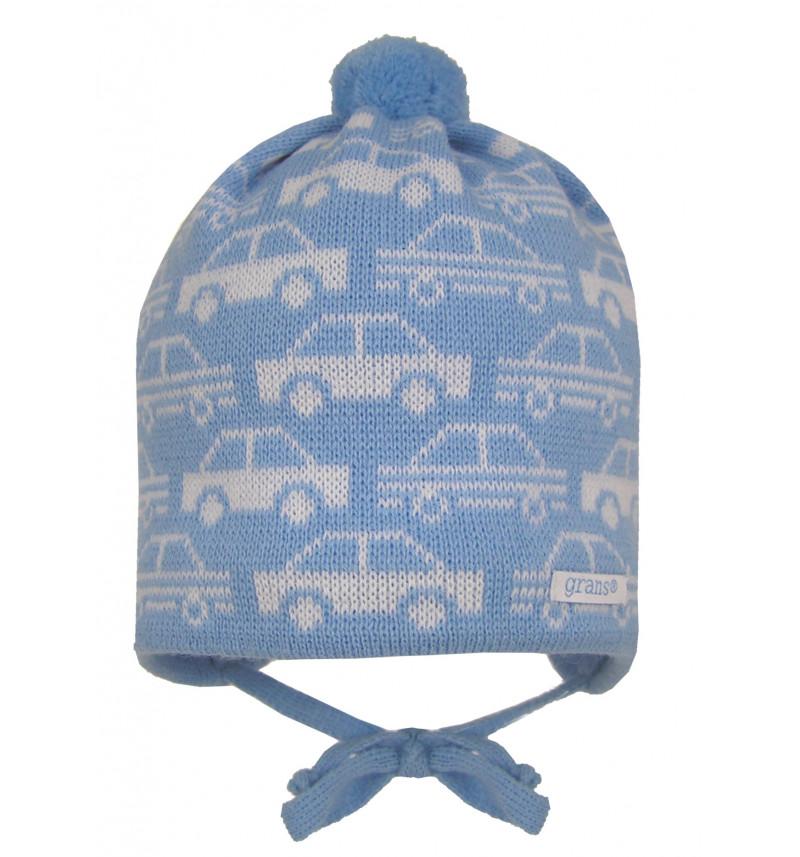"""Mėlyna kepurė """"Mašinytė"""""""