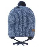 Mėlyna kepurė su bumbulu