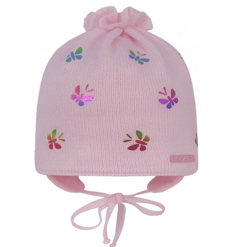 """Rožinė kepurė """"Drugelis"""""""