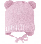 Rožinė kepurė su bumbuliukais