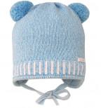 Mėlyna kepurė su bumbuliukais