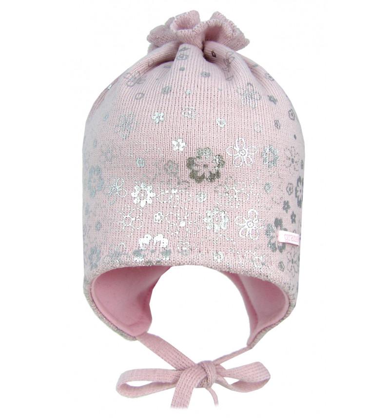 """Rožinė kepurė """"Gėlytės"""""""