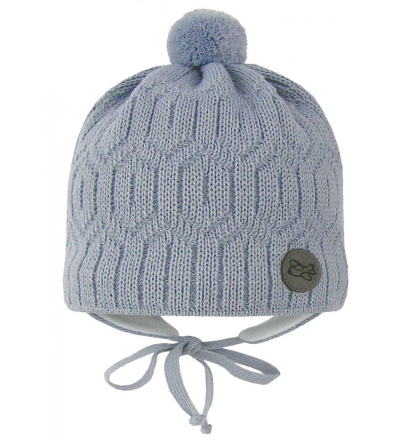 Pilka kepurė su ausytėmis