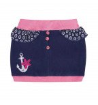 """Mėlynas sijonas dekoruotas inkariuku """"Paplūdimys"""""""