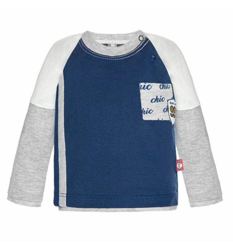 """Mėlyni marškinėliai ilgomis rankovėmis """"Chic"""""""