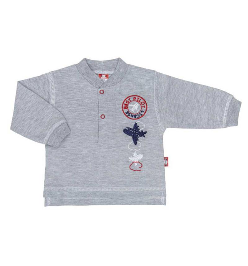 """Pilkos spalvos marškinėliai ilgomis rankovėmis """"Lėktuvas"""""""