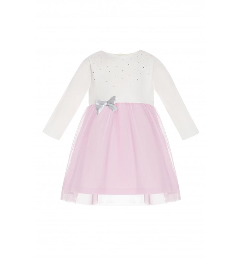 Puošni suknelė su tiulio sijonėliu