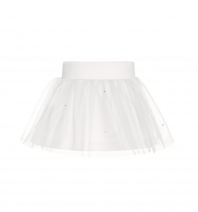 Puošnus baltas sijonas