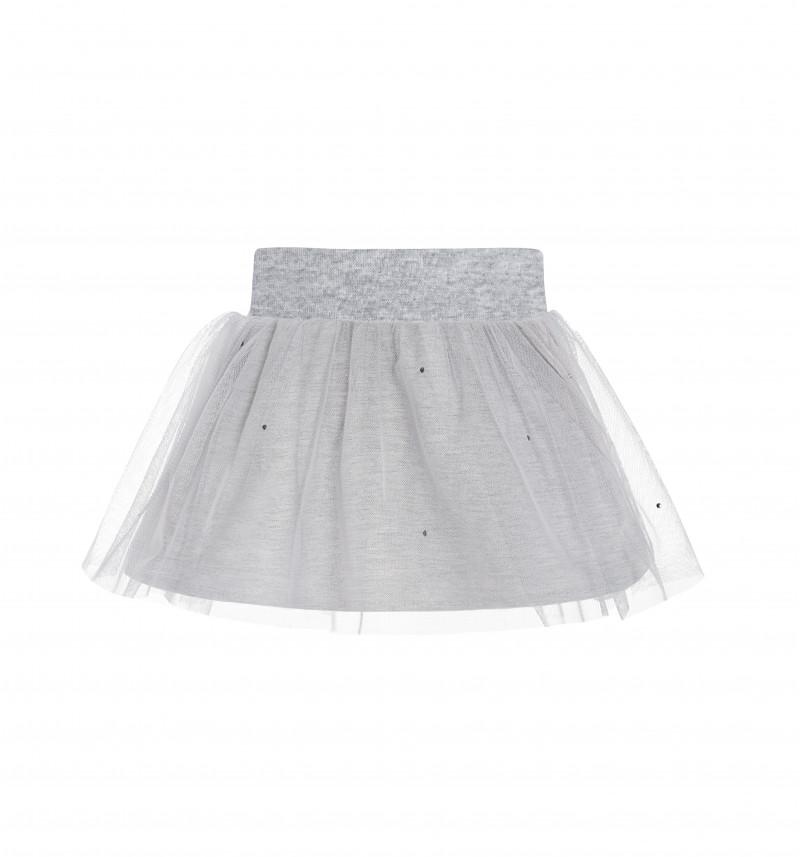 Puošnus pilkas sijonas