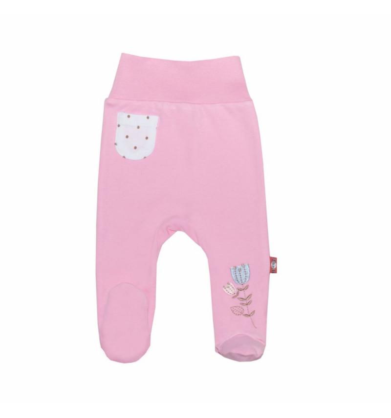 """Rožinės kelnės """"Balta kišenėlė"""""""