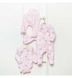 """Vilaurita 5 dalių rožinis rinkinys - kolekcija """"Lizette"""""""