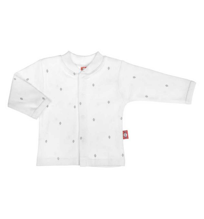 Balti marškinėliai ilgomis rankovėmis ankstukams