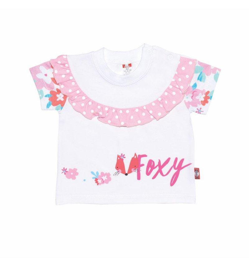 """Balti marškinėliai su gėlėmis """"Laputė"""""""