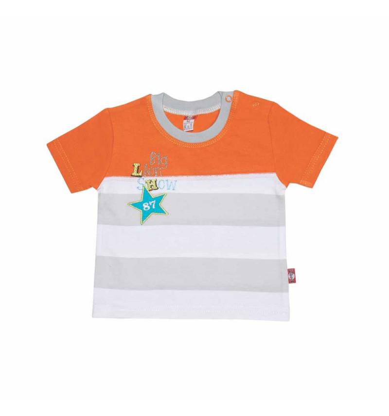 """Dryžuoti marškinėliai trumpomis rankovėmis """"Liūtukas"""""""