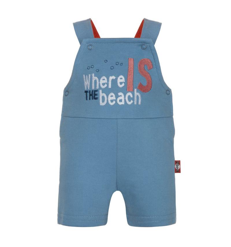 """Mėlynos kelnės su petnešomis """"Paplūdimys"""""""