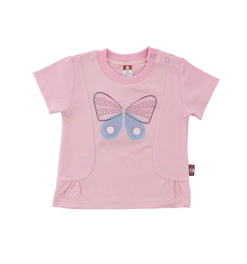"""Pelenų rožinės spalvos marškinėliai """"Drugelis"""""""