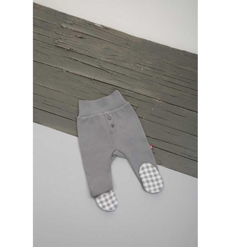 """Pilkos kelnės su languotomis pėdutėmis """"Vaikų lyga"""""""