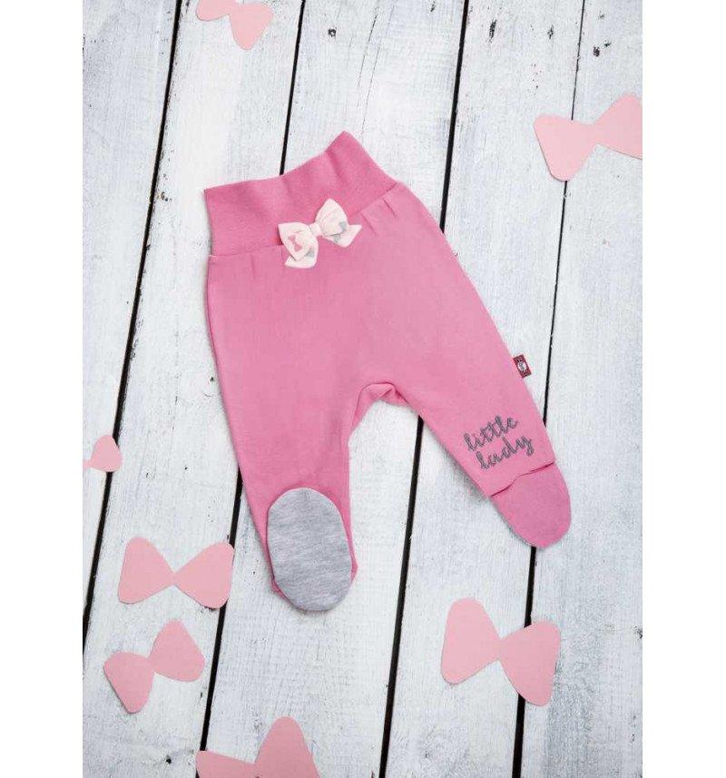 Rožinės spalvos kelnės su kaspinėliu